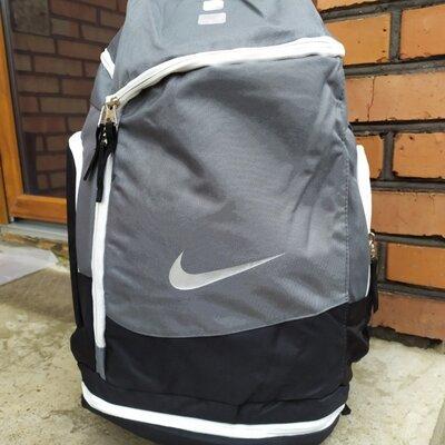 Баскетбольный рюкзак с карманом для мяча Nike Elite Air Max Gray серый
