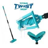 Универсальная швабра Titan Twist Mop вращается на 360 градусов с отжимом 6757
