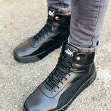 Стильные зимние мужские ботинки кроссовки на меху, спортивный стиль