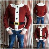 Новогодний свитер для Деда Мороза, р.50-52