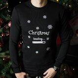Свитшоты свитера кофты зимние мужские Christmas Black новогодние рождественские