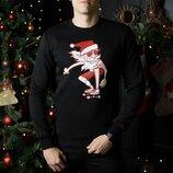 Свитшоты свитера кофты зимние мужские Santa na skeyte новогодние Дед Мороз