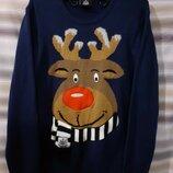 Новогодний свитер, р.XL 50-52