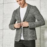 Серый мужской пиджак LC Waikiki / Лс Вайкики меланжевый c 2 карманами