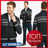 Зимняя мужская кофта LC Waikiki / Лс Вайкики с узорами, с 2 карманами, на молнии