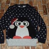 кофта свитер вязка девочке 11 лет Ту новогодняя