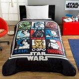 Подростковое полуторное Покрывало-Плед TAC Disney Star Wars Force 160×220 см звездные войны