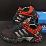 подростковые кроссовки ADIDAS Marathon 36-41р синие с красным