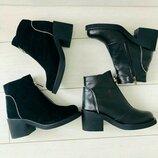 Ботинки женские кожаные зимние, демисезонные