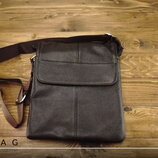 Кожаный мессенджер мужская сумка через плечо натуральная кожа A25-064C