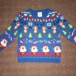 Новогодний свитер George 1,6- 2 года