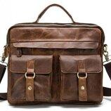 Мужская кожаная сумка портфель натуральная кожа Бесплатная доставка BX8001C