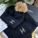 Женский набор Шапка и шарф Chanel