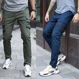 Крутые штаны мужские с карманами стрейч-коттон Mezhigorye