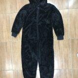 Кигуруми медведь гризли черный 9 лет слип пижама