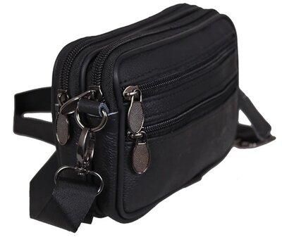 Барсетка мужская сумочка натуральная кожа 2в1 9947-11ч