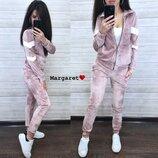 Модный костюм бархат М-544