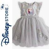 Disney нарядное серебристоеплатье Холодное сердце. Анна Эльзя-4 года