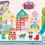 Игровой набор Кукла LOL с аксессуарами Mini villa мини вилла Surprise с волосами SC813