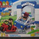 Конструктор JDLT 5130 Аналог Lego Duplo Полицейский участок 21 деталь Свет Звук