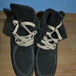 Ботинки кожаные 38р.,черевички замшеві