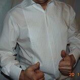 Брендовая стильная нарядная фирменная рубашка сорочка Next Некст .л-хл .41