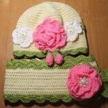 Комплект шапка, шарф Hand Made Ручная работа