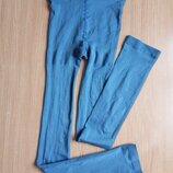 Яркие голубые лосины р.s 50 den из микрофибры с лайкрой, витринная пара