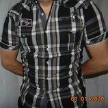 Брендовая стильная нарядная шведка рубашка сорочка Manguun.м-л .