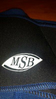 Фитнес пояс MSB неопрен L-XL 3