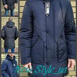 46-54, Чоловіча зимова подовжена куртка. Мужская зимняя удлинённая стёганая куртка. Мужская парка