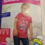 -Новая футболка на девочку, Германия, Лидл, Смурфики р.110-116