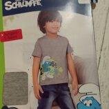 -Новая футболка для мальчика, Германия, Лидл, смурфики р.98-104