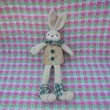 Игрушка мягкая подвеска заяц зайка кролик Hand made Хенд мейд, длина 28см