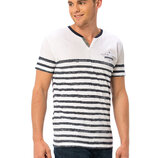 Белая мужская футболка LC Waikiki / Лс Вайкики Elegant Choice в полоску