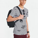 Белая мужская футболка LC Waikiki / Лс Вайкики в черную полоску