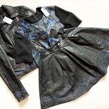 Костюм 3-ка asos юбка,блуза , косуха выполнены полностью с натуральной кожи