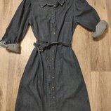 Джинсовое платье boohoo размер с-м. Новое состояние