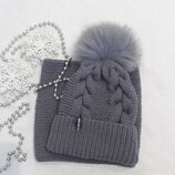 Комплект вязаний шапочка снуд