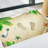 Декоративная интерьерная наклейка на пол Пляж 3D 90х60 см