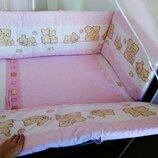 детское постельное белье в кроватку новорожденного. для кроватки размером 120 60 см.