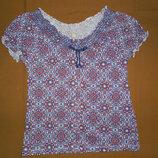 Блуза летння для девочки 8 лет, рост 128см от TU