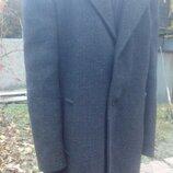Пальто мужское ,зима,мелкая клетка ,шерсть ,кашемир 100%
