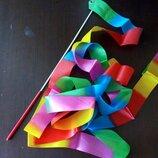 Лента художественная гимнастика для начинающих 4м цвет радужный