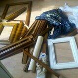 Фото рамки ,уголки Мдф ,заготовки для зеркал ,полка дерево