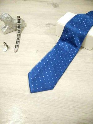 Стильный мужской галстук в синей гамме. Чоловіча краватка.