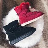 Sale UGG Замш Угги бордовые черные розовые пудровые натуральный замш ботинки дутики снегоходы