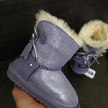 Sale замш натуральный угги дутики ботинки зимние снегоходы фиолетовые сиреневые