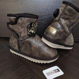 Sale угги коричневые зимние ботинки снегоходы дутики на мальчика и девочку