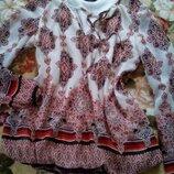 Красивая нарядная блуза кофточка с имитацией вишивки F&F